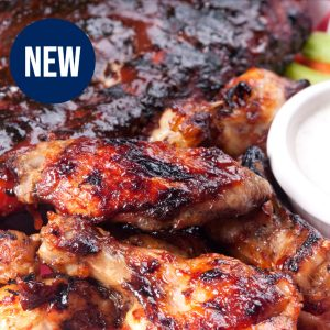 ½ Rack of Ribs & Wings  <br> Tuesdays Special