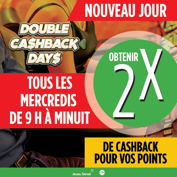 Double Cashback Days French